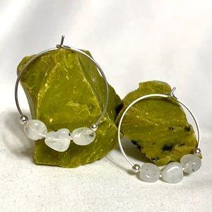 Jewelry - 🌈🌝RAINBOW MOONSTONE Hoop Earrings